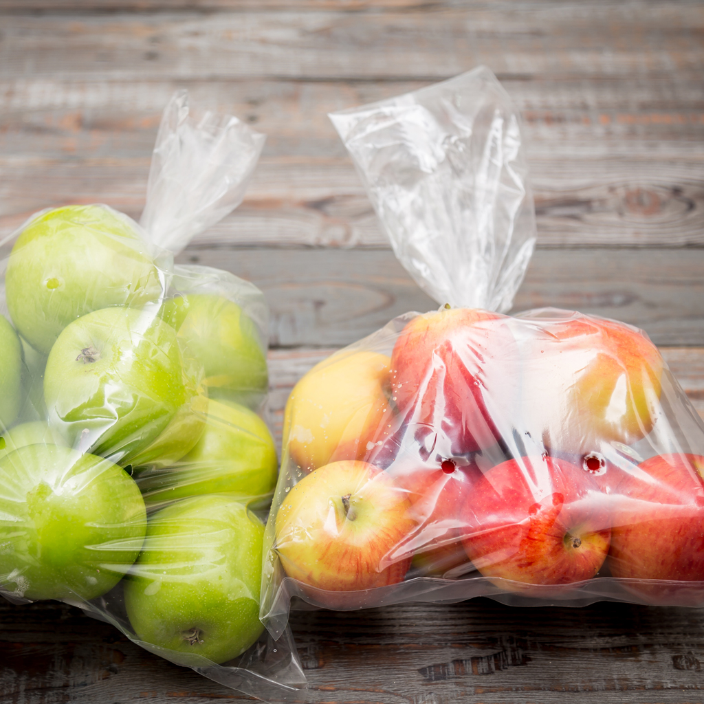 Integrated Packaging bag on roll apples